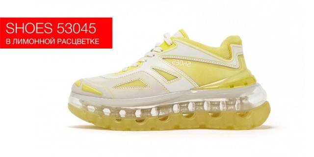 Модель кроссовок Shoes 53045 вышла в лимонной расцветке