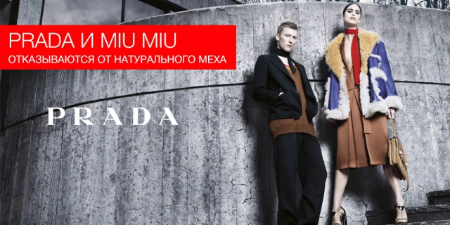 Prada Group объявила об отказе от использования натурального меха брендами Prada и Miu Miu
