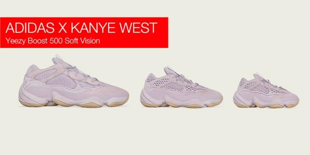 Adidas x Kanye West выпустили Yeezy Boost 500 Soft Vision